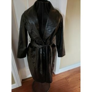 NWT! Nasty Gal Faux Leather Black Open Front Coat